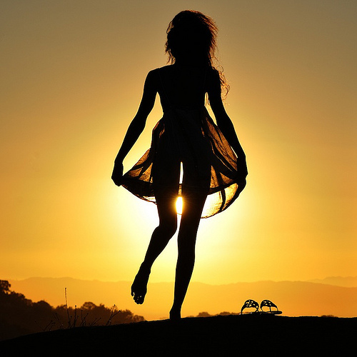 girl in sunset