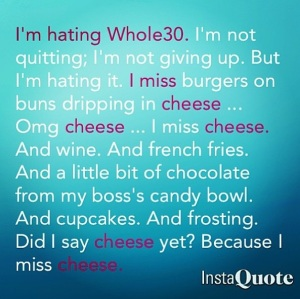 hating whole30